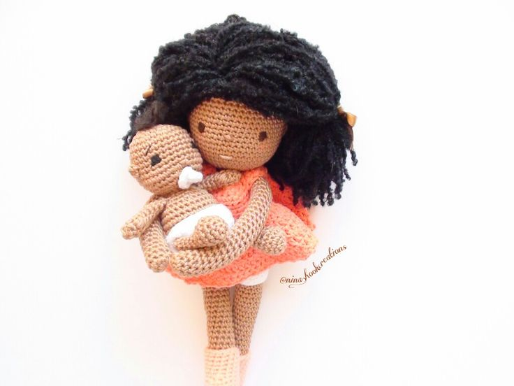 Crochet Amigurumi Doll Hair : Crochet pattern african princess and the pea doll plush