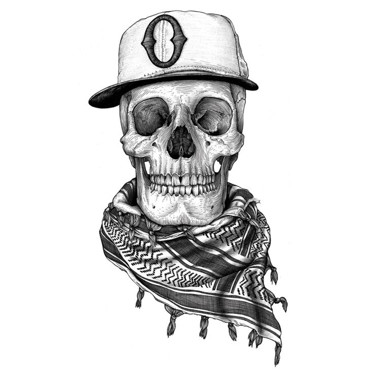 Skulls Tattoo Design Wallpaper: OBEY, Packie Skull, Pen, Ink And Graphite