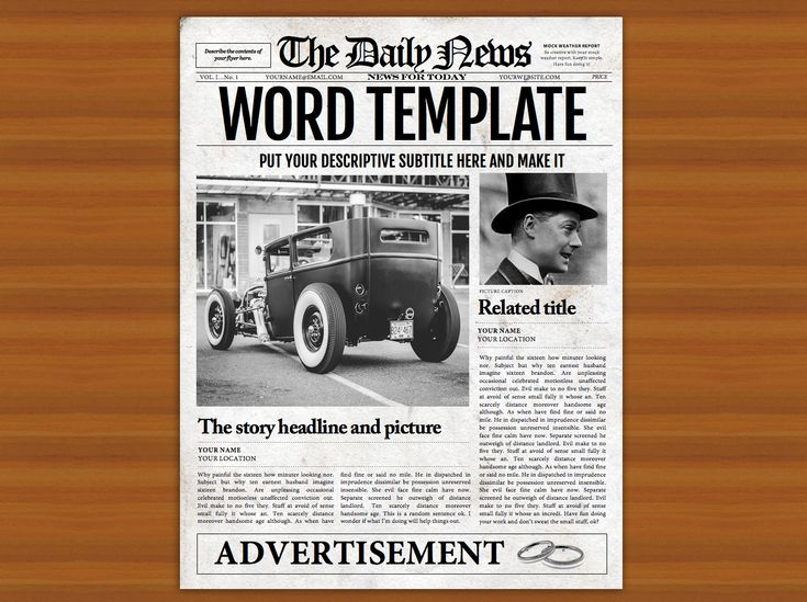 39 Best Newspaper Templates Images On Pinterest Role Models