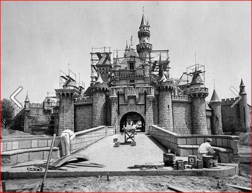 Construction of Disneyland, California, 1954.