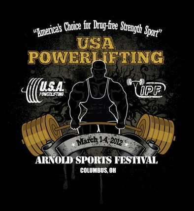 2012 Arnold Sports Festival Tshirt Winner | USA POWERLIFTING