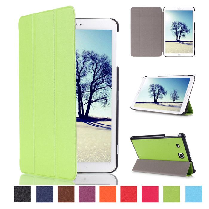 "10Pcs PU Leather Stand Cover Case for Samsung Galaxy Tab E 8.0 T377 T337A T377P T375 8"" Tablet + Screen Protector  #Affiliate"