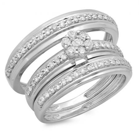 96 best Spectacular Trio Wedding Ring Sets images on Pinterest