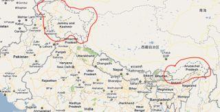 menas borders: Google in trouble again over Kashmir map