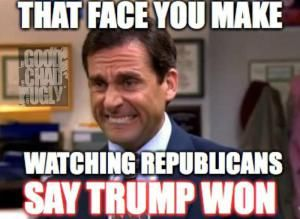 Funniest Presidential Debate Memes: When Republicans Say Trump Won