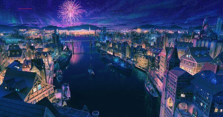 Loading Anime City Anime Scenery Scenery City night anime scenery wallpaper