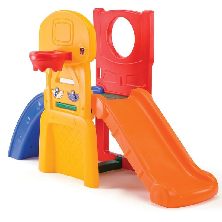 Step2 All Star Sports Climber for Toddlers - Durable Outdoor Indoor Kids Slides with Ball Game Accessories, Multicolor