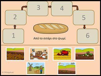δημητριακά-από το σιτάρι στο ψωμί