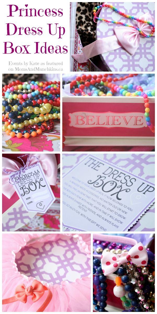 Princess Dress Up Box DIY Idea #Princess #Party #Gift