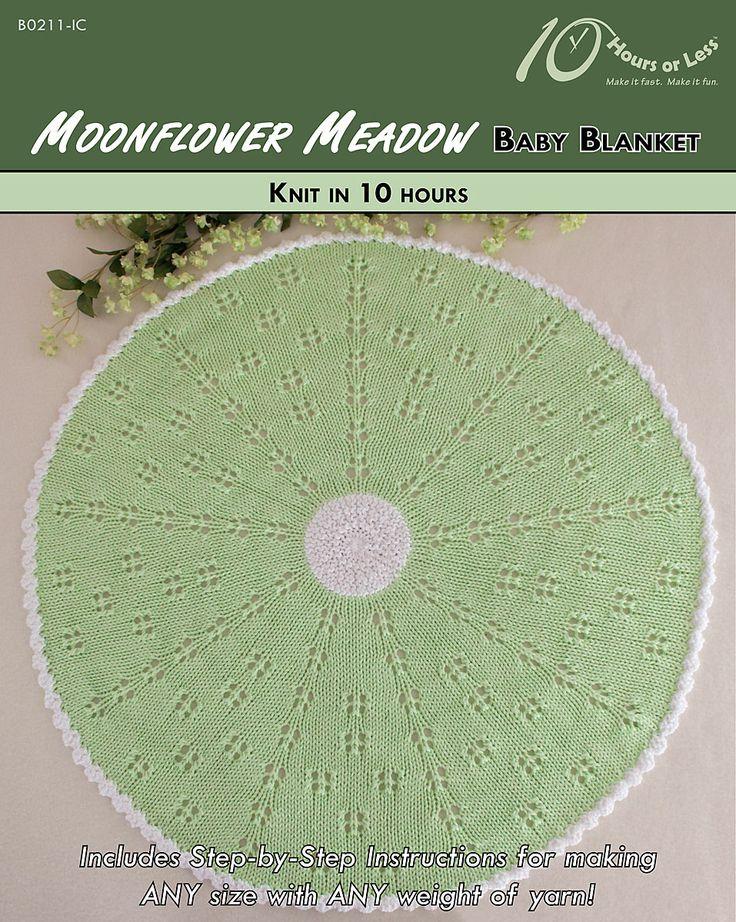 Moonflower Meadow baby blanket [knit in 10 hours]