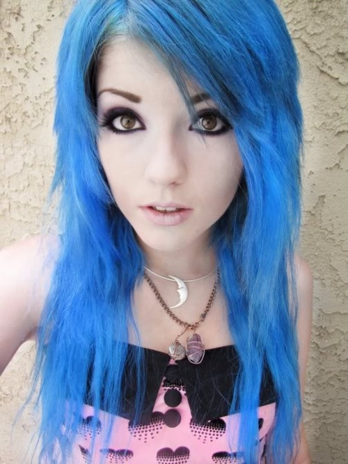Black And Blue Scene Hair Leda 1000+ images about ⚔...