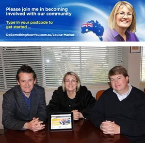 """Mrs Markus has unveiled a DoSomethingNearYou portal on her website. She says of it, """"I am very honoured to be an advocate of this project and see enormous potential for its future. It is also significant to me because of the connection Founder Jon Dee has with the Blue Mountains. I'm excited to be involved."""" #DSNearYou #volunteer"""
