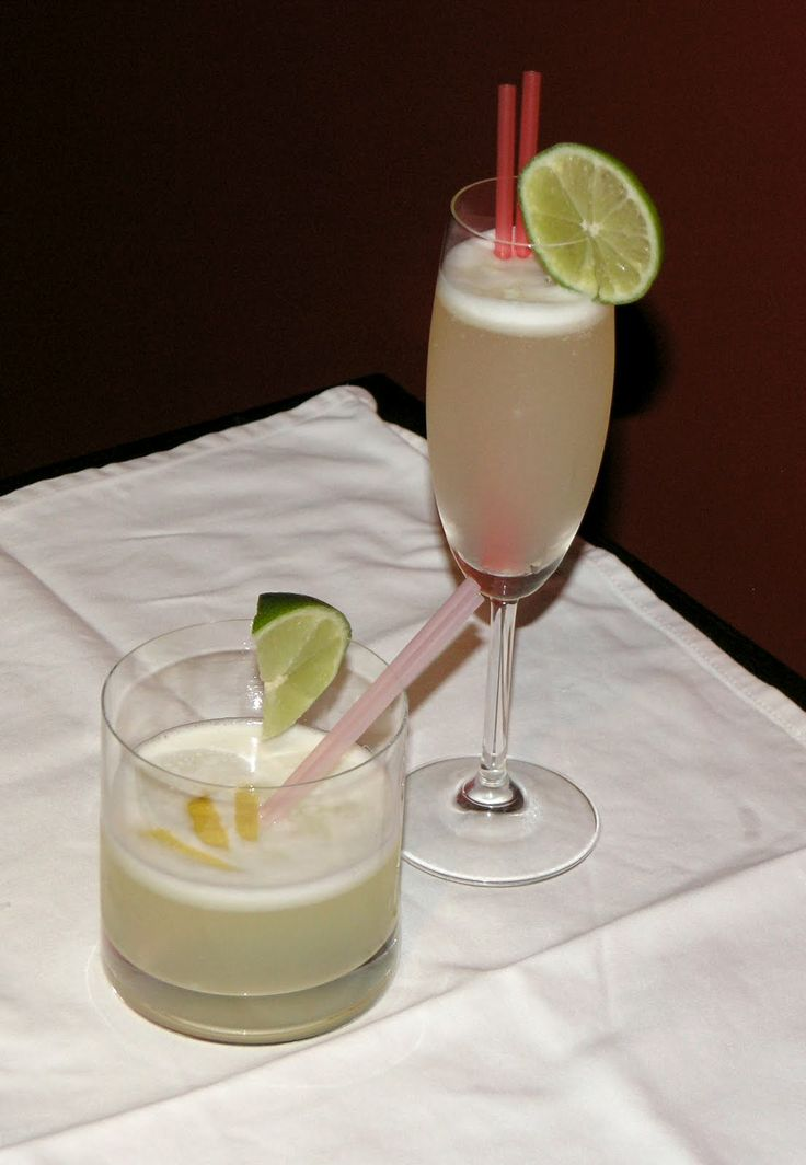 A Pisco Sour is a typical South American cocktail. The drink's name comes from pisco, which is its base liquor, and the cocktail term sour, in reference to sour citrus juice and sweetener components.  Pisco Sour uses Chilean pisco and Pica lime.