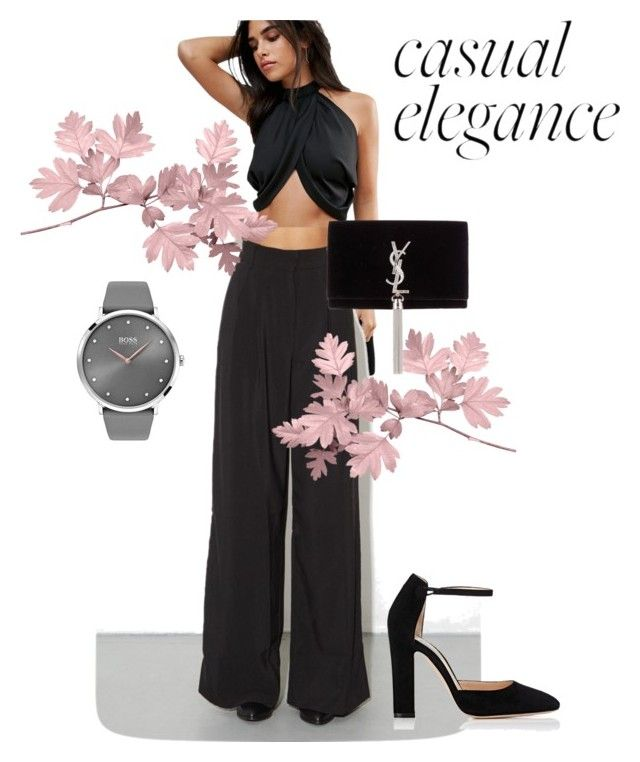"""""""Boss."""" by salapopo on Polyvore featuring ASOS, Gianvito Rossi, BOSS Black and Yves Saint Laurent"""