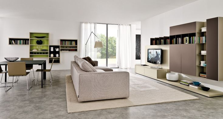 Tvs and galleries on pinterest for Immagini living moderni
