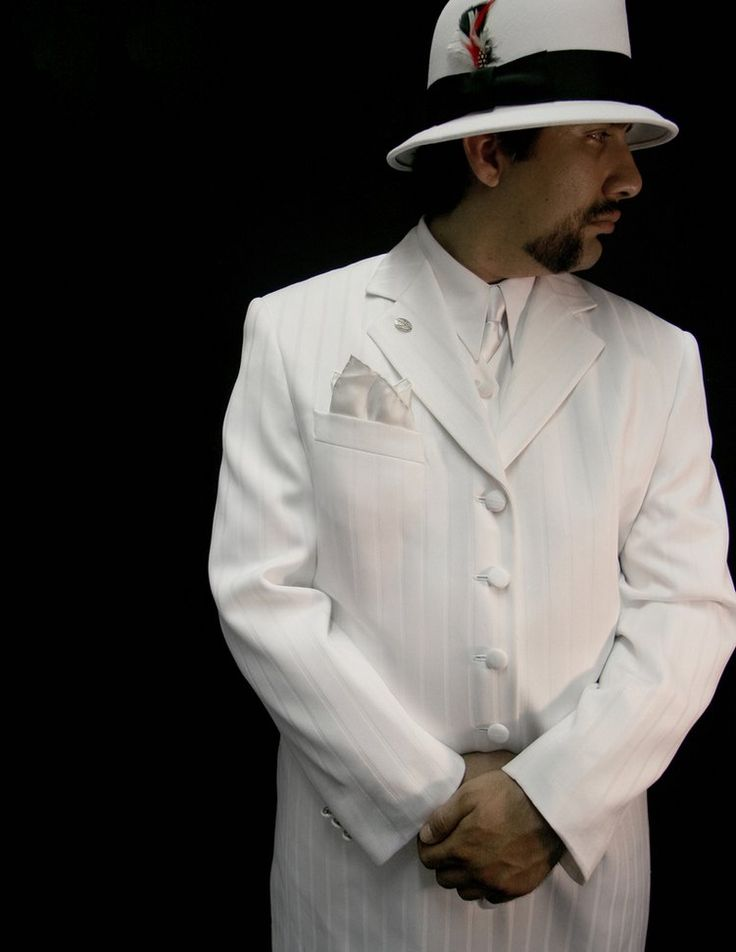 White Cotton Dress Fedora Hat For Men With Black Band