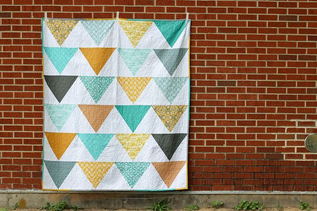 Flagged Quilt: Mini Tutorial + Giveaway! by Jeni Baker, via Flickr