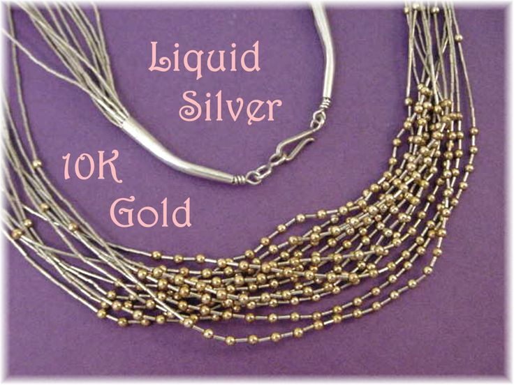 custom nike dunks for women  K Gold amp Liquid Silver     Necklace  Strands  Over    K Gold Beads  Sterling Silver Native American Navajo Indian  FREE SHIPPING by FindMeTreasures on Etsy