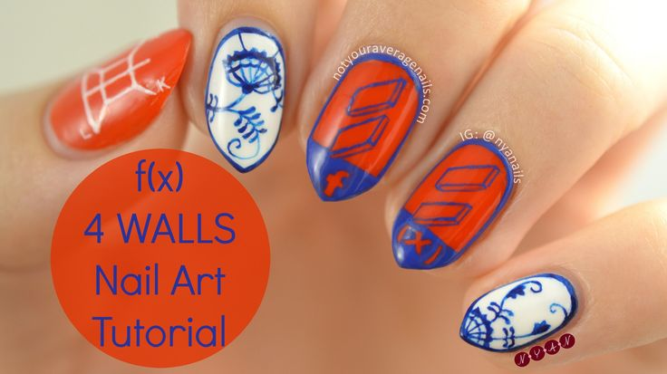 f(x) 4 Walls Nail Art Tutorial
