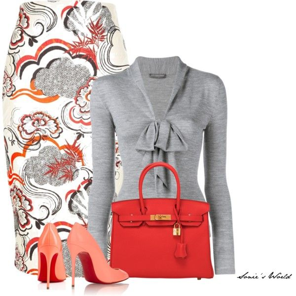 Grey by sonies-world on Polyvore featuring Alexander McQueen, River Island, Christian Louboutin and Hermès