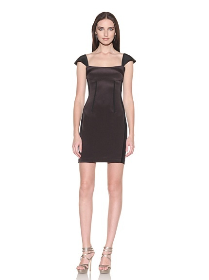 Jay Godfrey  $134  Slim 2-Tone Cap Sleeve Dress