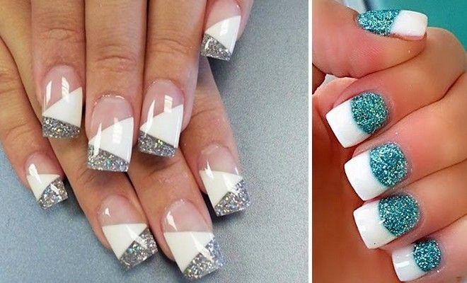Γαλλικό με glitter! - http://blog.ilikebeauty.gr/french-nails-with-glitter/