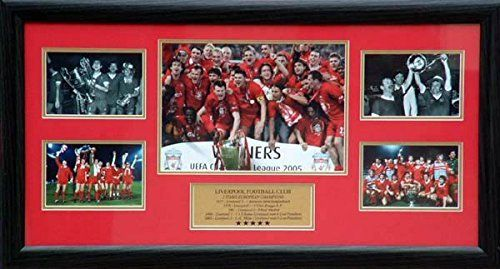 Liverpool Football Club Montage - 5 times European Champions by Totally Gifts. Liverpool Football Club Montage - 5 times European Champions.