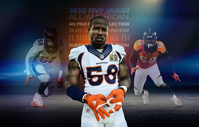 The Denver Broncos have signed Von Miller to a long-term contract to keep the four-time Pro Bowl outside linebacker and Super Bowl 50 MVP in orange and blue through the 2021 season.