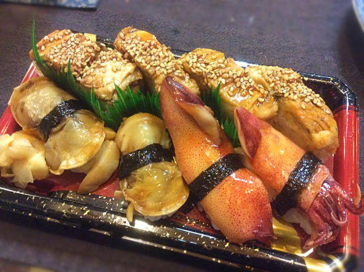 アライさん's dish photo 煮穴子 煮蛤 そしてイカさん | http://snapdish.co #SnapDish #晩ご飯 #お寿司