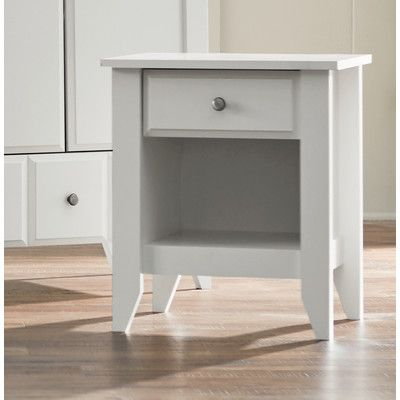 Revere 1 Drawer Nightstand Color: Soft White - http://delanico.com/nightstands/revere-1-drawer-nightstand-color-soft-white-605159777/