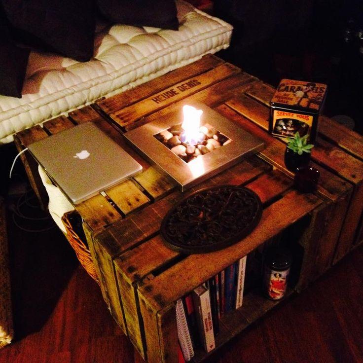 table basse avec des caisses en bois - Table Basse En Caisse En Bois
