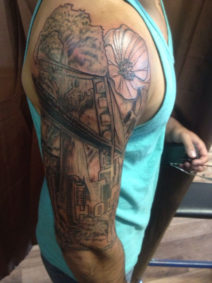 California half sleeve tattoo | tattoos | Pinterest ...