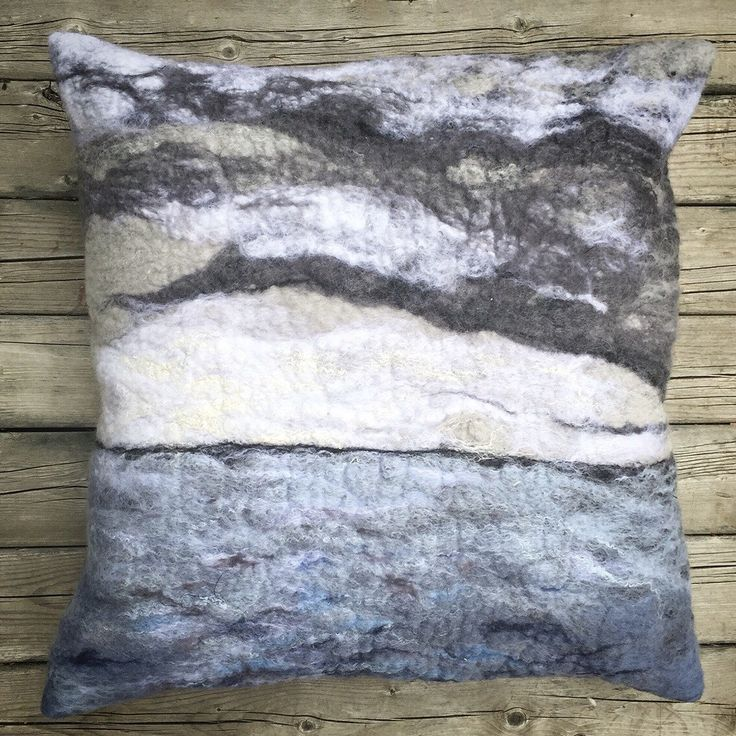 Felted Art Pillow Cover, Merino Wool, Silk, Northern Sunset-Lavender Yellow by TuckamoorWildcrafts on Etsy https://www.etsy.com/listing/270547583/felted-art-pillow-cover-merino-wool-silk