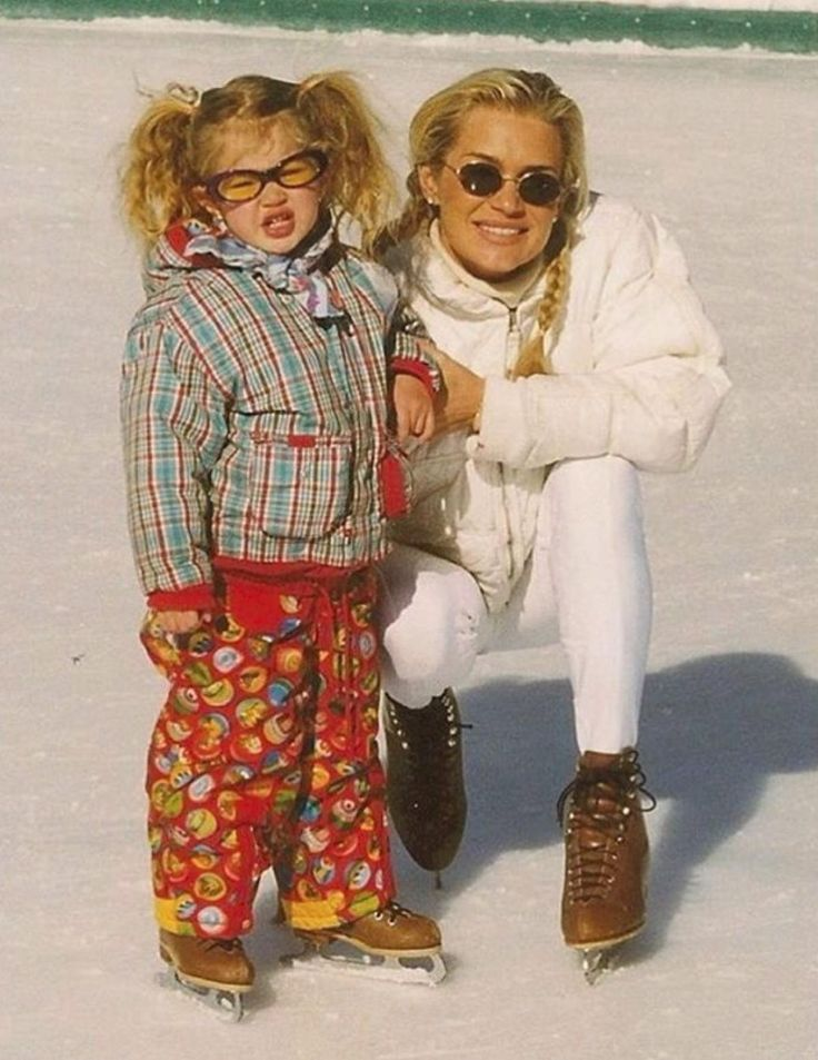 "Another year, another holiday trip to Aspen for Gigi and her mom! ""Real Housewives of Beverly Hills"" star Yolanda Foster shared this adorable snap with her and Gigi Hadid as a toddler enjoying a skate in their usual vacation spot of Aspen, Colorado. ""Same Place, same Spirit, only 18 years later,"" she captioned the photo from Dec. 27, 2015."
