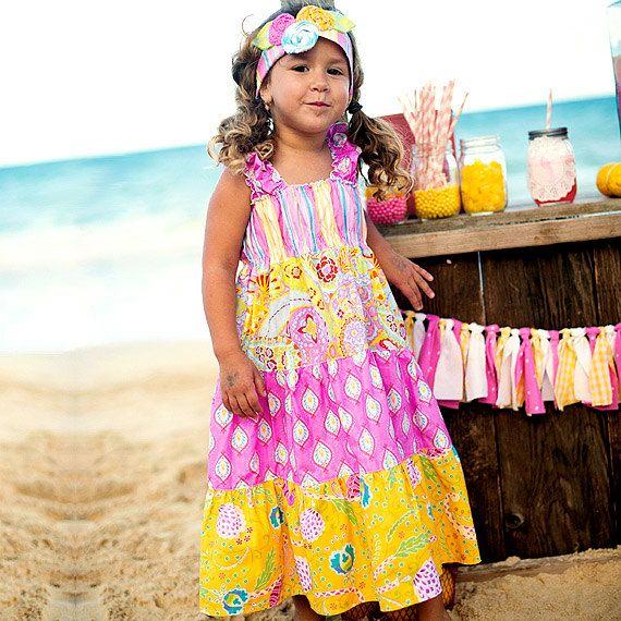 Girls Summer Dress  Girls Sundress  Pastel by PalmTreePrincess, $44.95