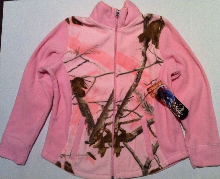 Realtree APC Pink Camo Jacket Women's M Medium Fleece Camp hunting Full Zip NEW in Clothing, Shoes & Accessories, Women's Clothing, Coats & Jackets | eBay