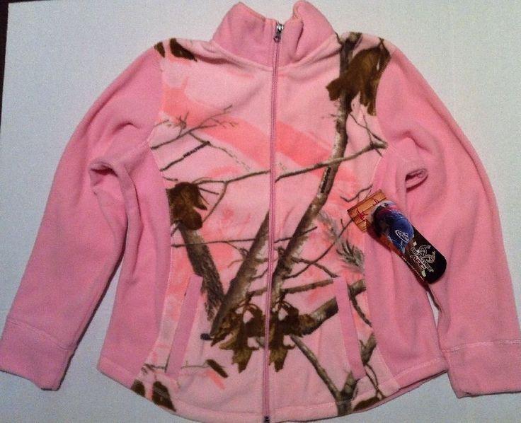 Realtree APC Pink Camo Jacket Women's M Medium Fleece Camp hunting Full Zip NEW in Clothing, Shoes & Accessories, Women's Clothing, Coats & Jackets   eBay