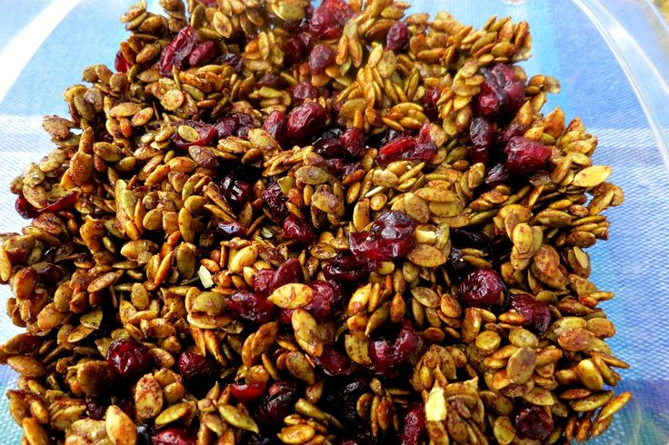 Pumpkin Cranberry Crunch. A sweet and salty snack perfect for the Fall.