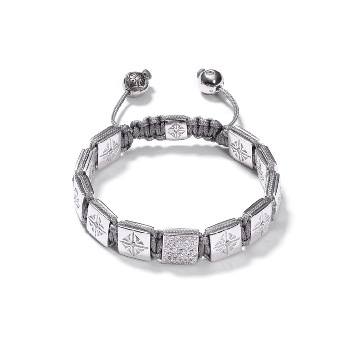 White Gold Lock Bracelet