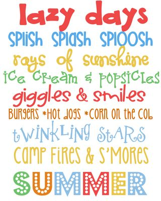 My Favorite Free Summer Printables. Yeah, It's on my Spring Board, but I don't like summer enough to make a board for it.