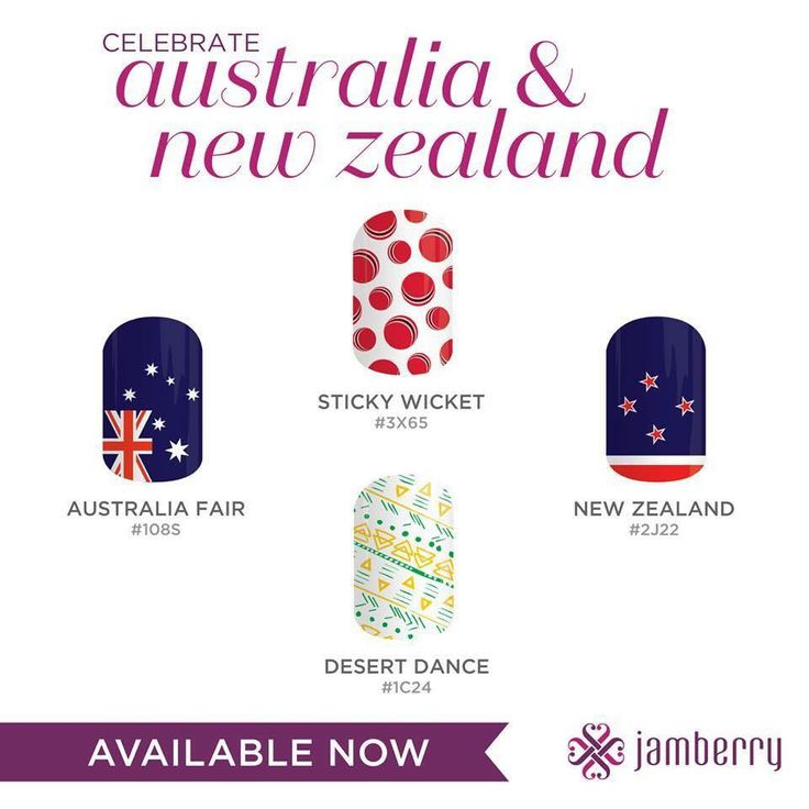 To celebrate the Launch of Jamberry into Australia and New Zealand. These wraps wil be available from October 1st!!!
