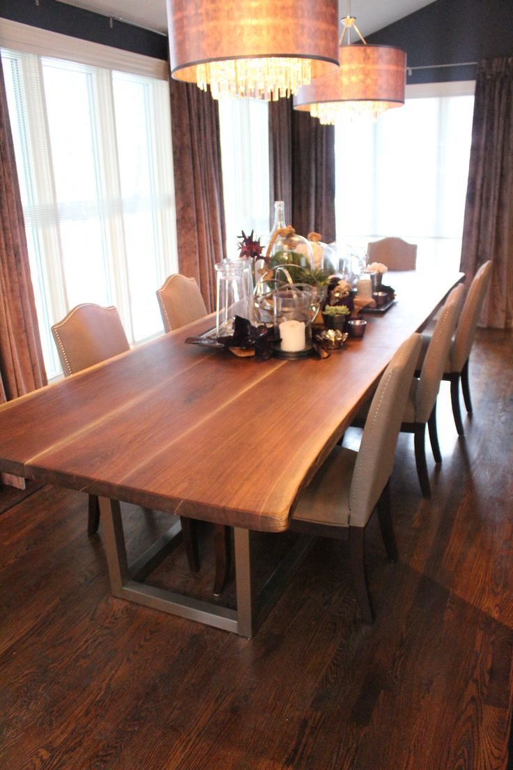 Walnut live edge dining table - Walnut Table Property Brothers