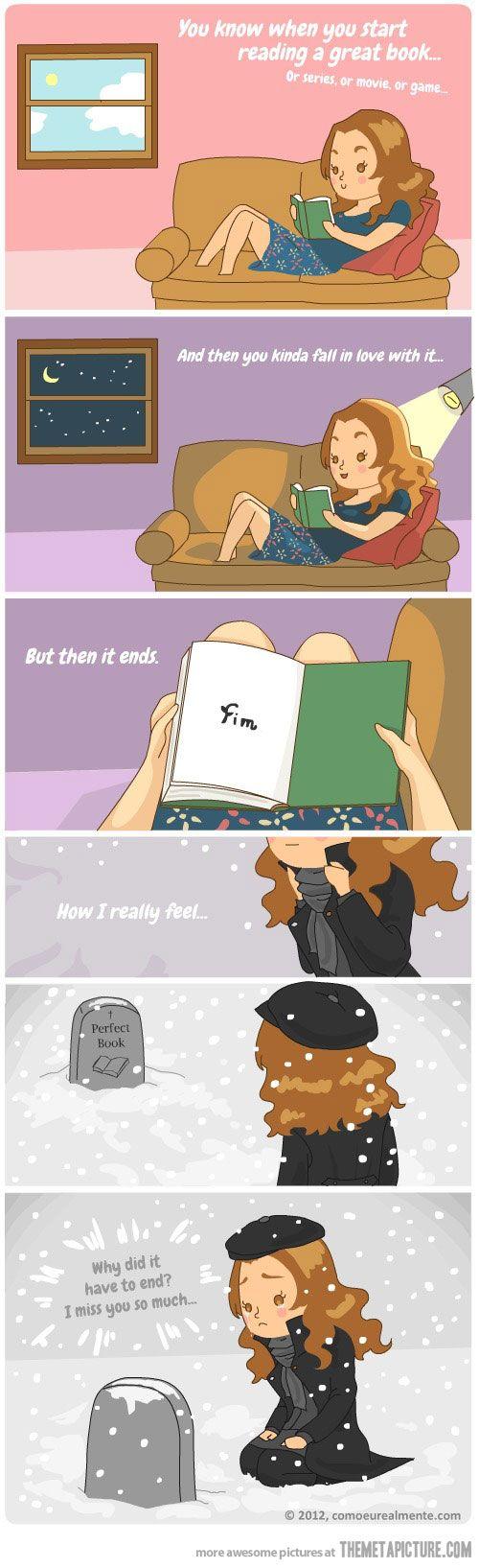 When a good book ends…