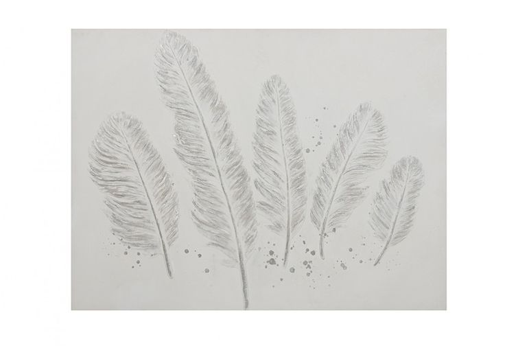 Gift Idea - Silver Feather 60x90cm canvas, under $80 | Super A-Mart
