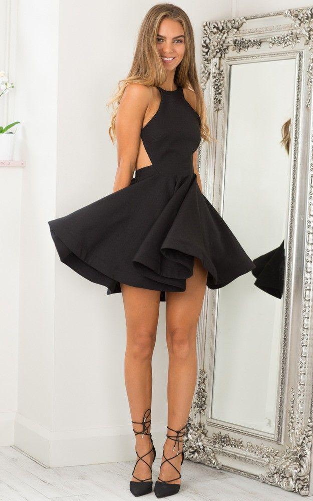 Sparks Flying Dress In Black Produced