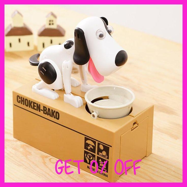 Cute Automatic Dog Eat Stolen Coin Piggy Bank Creative Money Saving Safe Box Gifts For Kids Digital Coin jar alcancia de gato