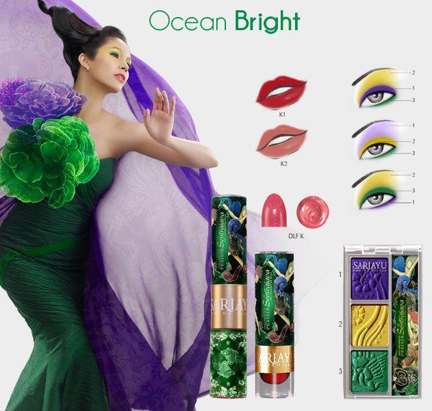 Koleksi Karimun Jawa  Trend Warna 2013  Pemulas mata dengan paduan emerald green, kuning dan ungu.. Serta dilengkapi 2 lipstick, Duo Lip Function.. lipstick dan liquid lip color dalam satu kemasan juga Natural Glow Powder.