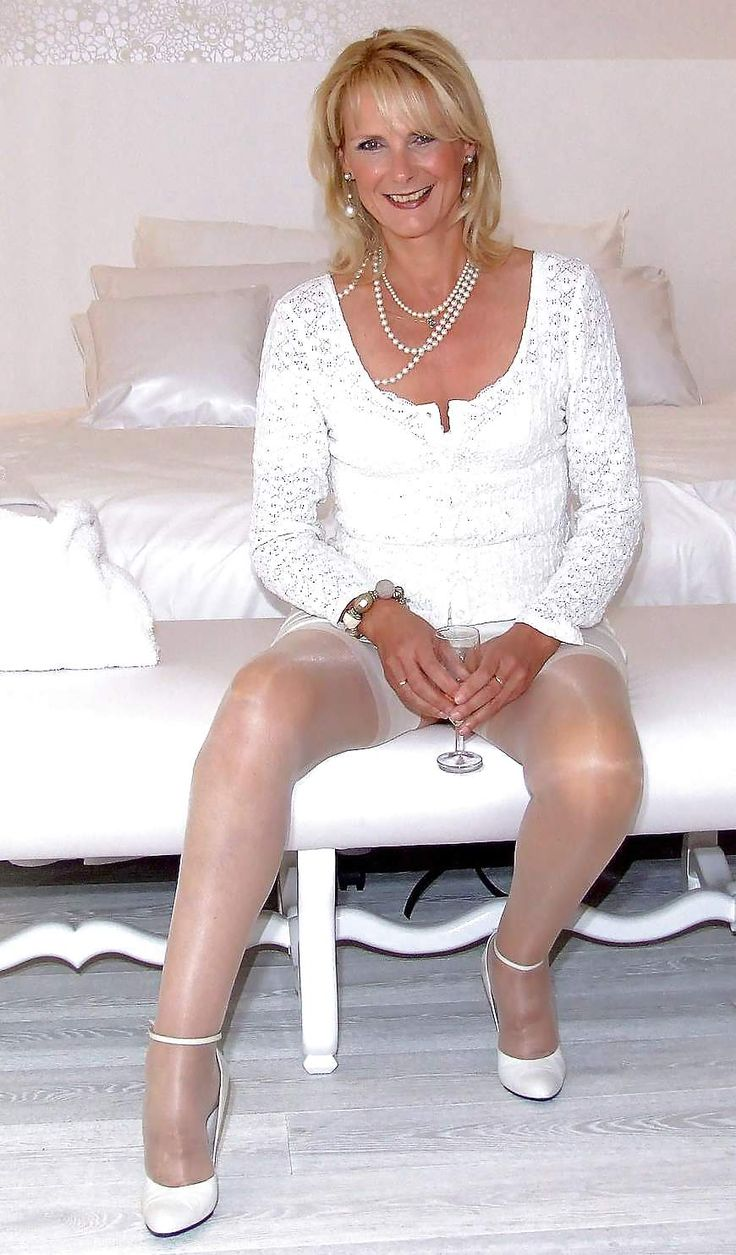 For silky pantyhose mature that big