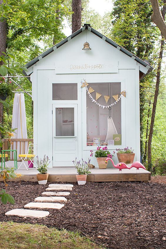 Stylish Sheds: 8 Incredible Backyard Ideas -Lay Baby Lay Play House
