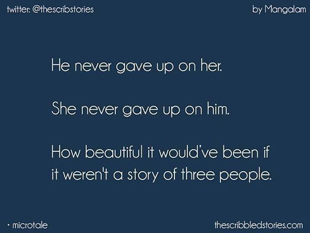 MicroTale on 'Three' by Mangalam | fanpost | Twitter: @thescribstories.